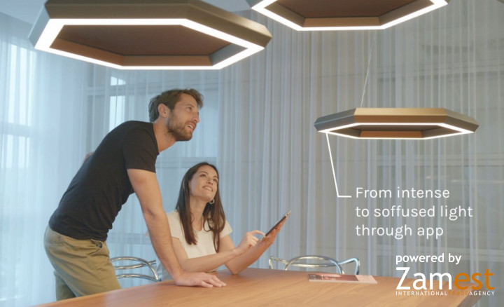 OLEV - Dim to Warm technology in OLEV design lamps the light for well-being that varies in intensity